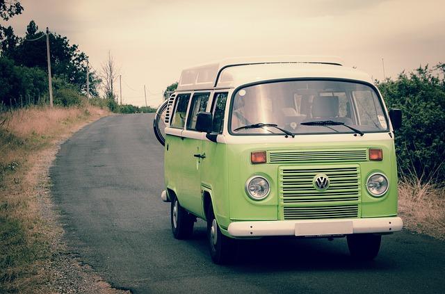 zelený volkswagen