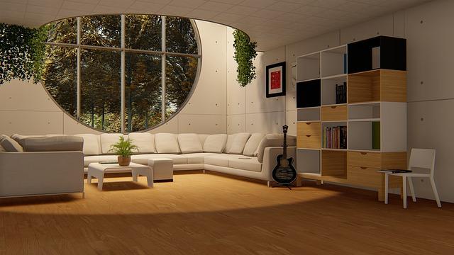 prosvětlený obývací pokoj
