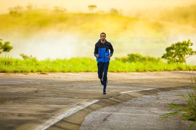 běhání při krásném počasí
